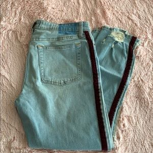 Slim Cut A&F Jeans With Stripes